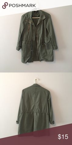 Forever 21 Jacket Army Green Mid Length Jacket Forever 21 Jackets & Coats Utility Jackets