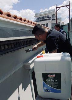 Αστάρωμα σε γύψινα εξωτερικής όψης με 100% ακρυλικό οικολογικό αστάρι νανοτεχνολογίας Dur Aqua (Kraft). Rebuildit.gr Washing Machine, Home Appliances, House Appliances, Appliances