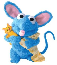 "Tutter and kitty from ""Bear in the Big Blue House"""