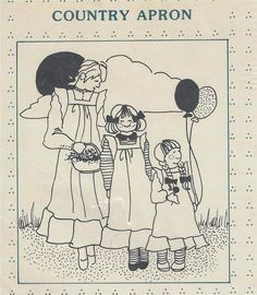 Country Apron Pattern for Adult Junior and Infant Complete Uncut Country Quilts #CountryQuilts