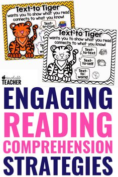 Reading comprehension strategies can be fun and engaging with these animal style poems, bookmarks and graphic organizers. Students in kindergarten, first grade, and grade classrooms can remember improve their reading comprehension with these worksheets. Reading Comprehension Strategies, Reading Fluency, Reading Intervention, Teaching Reading, Reading Response, Guided Reading, Teaching Letters, Teaching Phonics, Phonics Activities