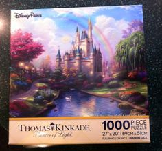 AmazonSmile: Disney Parks Thomas Kinkade Castle Puzzle 1000 Piece: Toys & Games