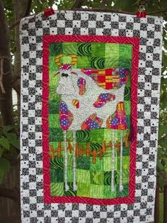 Another of my sister's quilts I'm going to have to make for myself.  Gorgeous George - The Happy California Cow!  May, 2007
