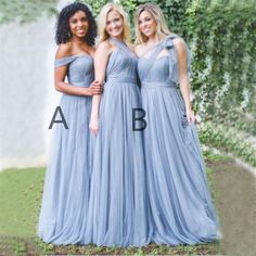 Charming Cheapest High Quality Tulle Off Shoulder Sweetheart Bridesmaid Dresses, PD0460