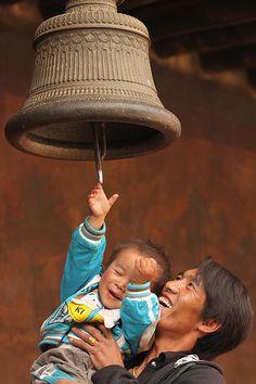 Moment of joy, Tibet