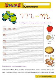 M Archives - Manute Pricepute Cursive Letters, Worksheets For Kids, Stories For Kids, Kids Education, Alphabet, Crafts For Kids, Preschool, Archive, Classroom