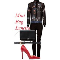 """Total Black"" by maryluna265 on Polyvore"