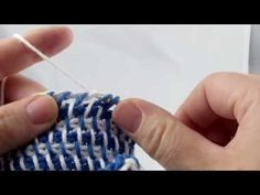 Tunisian Crochet - herringbone weave pattern (IN GERMAN - If you are familiar with Tunisian Crochet you can watch this video to learn this stitch... The video is very good... Deb)