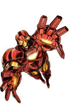 Iron Man Armor Model 20 by Alan Davis Dc Comics Art, Marvel Dc Comics, Marvel Heroes, Marvel Characters, Iron Man Armor, Super Heros, War Machine, Armors, Marvel Universe