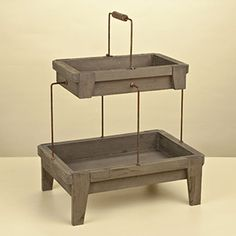 Mary Carol Home Two Tier Wooden Server on sale at Rain Collection for $59.99