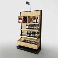 black gondola shelves liquor store shelving