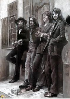 A great poster featuring an artistic rendering of the Beatles inspired by the Hey Jude photo session! Perfect for collectors of Beatles memorabilia. Check out the rest of our Foto Beatles, Les Beatles, Beatles Art, Beatles Photos, Beatles Lyrics, Ringo Starr, Paul Mccartney, George Harrison, Pop Rock