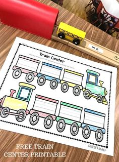 Free Sight Word Train Center Printable from Simply Kinder. A great addition to add some accountability to your preschool and kindergarten play-based centers. Train Activities, First Grade Activities, Spelling Activities, Sight Word Activities, Kindergarten Activities, Alphabet Activities, Trains Preschool, Free Preschool, Preschool Classroom