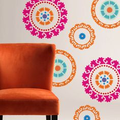 Kids Room Mexican  Pattern Wall Room Decor Made by OMG Stencils Home Improvements Color Paintings 0066. $34.00, via Etsy.