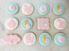 Chá de bebe Babyshower  Girl Menina Pink Cookies  Bolachas Decoração