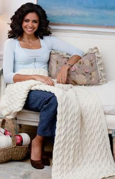 Cabled Classic Throw Knitting Pattern