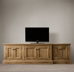Salvaged Media Console 107w x24Dx32H - Would love to find something like this to use in my dining room!