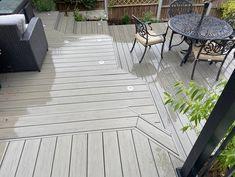 Backyard, Patio, Composite Decking, Composition, Garden, Outdoor Decor, Silver, Boards, House