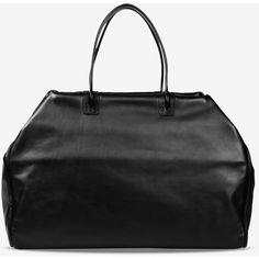 Maison Margiela 11 Handbag ($840) ❤ liked on Polyvore featuring bags, handbags, tote bags, black, zip tote, leather tote purse, leather man bags, leather totes and leather handbag tote