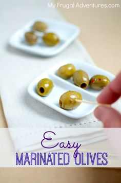 Easy marinated olives recipe-- perfect party food or hostess gift!