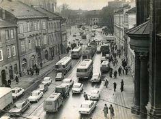 Ulica Stradomska. Kraków, 1975 rok