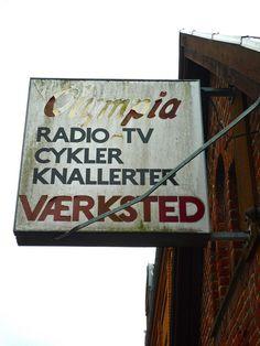 TV Repairs Sign, Holstebro, Danmark