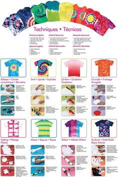 Tulip Tie-Dye Party Kit is perfect for sizzling up summer camps, fun at family reunions, backyard bashes and more. Fête Tie Dye, Tulip Tie Dye, Tie Dye Party, Bleach Tie Dye, How To Tie Dye, Tye Dye, Bleach Pen, Diy Tie Dye Kit, Tie Dye Steps