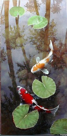 Koi keeping is quickly becoming a very popular hobby in America. Koi are beautiful, vibrant fish that can literally light your day. Koi come in many colors, Koi Fish Pond, Fish Ponds, Koi Art, Fish Art, Koi Kunst, Koi Painting, Japanese Koi, Beautiful Fish, Water Lilies
