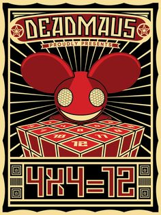 DeadMau5 - 4x4=12 Good Album (Y) propoganda like poster