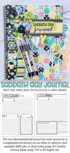 Sabbath Day Journal {FOR HER} PRINTABLE | My Computer is My Canvas - PRINTABLE journal, printable sabbath day notebook, the sabbath is a delight, christian gift, church notebook, printable notebook #mycomputerismycanvas Planner Tabs, Brochure Paper, Sabbath Day, Label Paper, My Canvas, Christian Gifts, Sticker Paper, Scripture Study, Bible