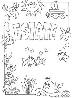 maestra Nella: copertine Baby Embroidery, Embroidery Patterns, Free Coloring Pages, Coloring Books, Diy For Kids, Crafts For Kids, Craft Kids, Italian Lessons, Page Borders Design
