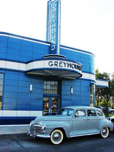 1930's Greyhound Bus Station in Blytheville, AR... refurbished & now a cool diner