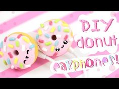 Kawaii Donut earphones / buds polymer clay tutorial
