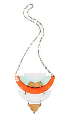 Statement necklace Perspex necklace by ShaniJacobiJewellery