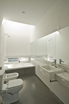White Bathroom sky lite over shower