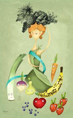 Marie-Eve Tremblay Fruit In Season, Various Artists, Naive, Diy Art, Tinkerbell, Creative Art, Modern Art, Fairy Tales, Art Gallery