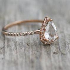 Rose Gold engagement ring!