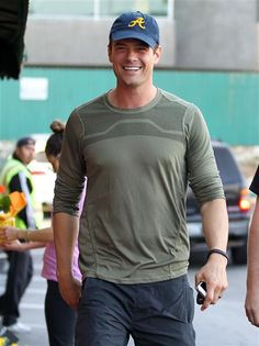 Josh Duhamel stops by Whole Foods and Chipotle with a friend in Brentwood, Calif., on March 22, 2014.
