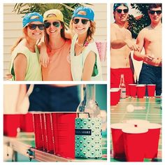 southernshirtco:   Definitely a Spring Break kind of Monday. Good times with great people. #neonsnapback #tanktops #cottonkoozies #beerpong #springbreak #southernshirt