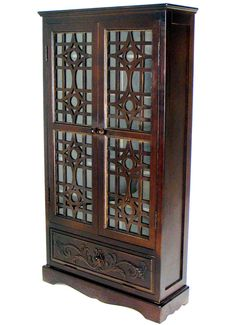 Basswood CD Cabinet In Brown   5584
