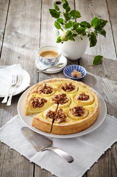 Bratapfelkuchen mit Marzipan-Quark-Creme (Heft: September 2014) Foto © Ulrike Holsten für ARD Buffet Magazin