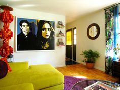 "Eve's ""Pop of Psychedelia"" Living Room"
