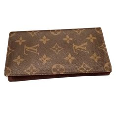 SOLD! Louis Vuitton Monogram Checkbook Cover Pre-owned monogram Louis Vuitton check book cover with 3 credit card holders. Product code embossed underneath left flap in bottom right corner. Louis Vuitton Accessories