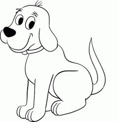 Dog Drawing Pictures - Making-The-Webcom dog drawing - Drawing Tips Baby Face Drawing, Dog Drawing Simple, Cute Dog Drawing, Drawing Tips, Drawing Drawing, Dog Outline, Outline Drawings, Easy Drawings, Animal Drawings