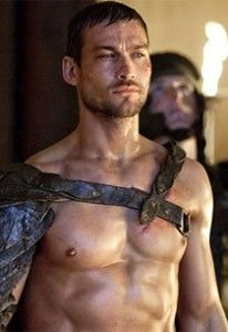 Andy Whitfield as Spartacus - the first two seasons before cancer claimed him...