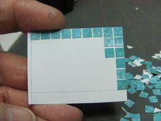 Dollhouse Miniature Móveis - Tutoriais   minis de 1 polegada: uma mesa de vime Scale polegadas com Tile Top - Como fazer uma mesa de vime 1 polegada de escala com um top telha faux.