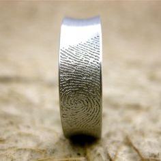 his wedding band, her fingerprint. Cute.