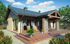 casa mica fara etaj cu terasa lemn