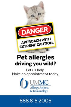 University of Mississippi Medical Center - University Physicians Allergy, Asthma & Immunology - Pets Online Ad (May 2016)