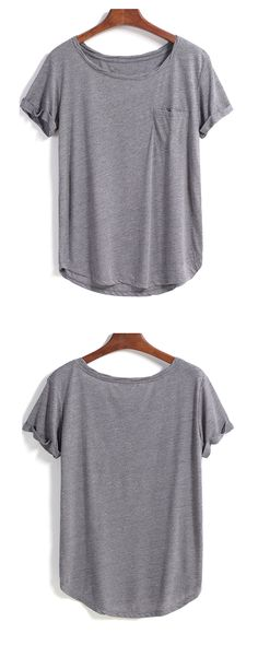 Update your closet with soft t-shirt.i prefer grey,white &khaki one.Come romwe.com to take it right now!
